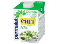 """Сливки для соуса """"Пармалат"""" 10% 0,5 кг 1/12"""