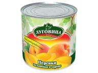 Персики половинки в сиропе Луговица 425 млжб 1/24