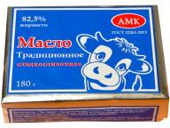 """Масло """"Традиционное"""" 82,5% 180гр ТМ """"АМК"""" 1/30 БЗМЖ"""