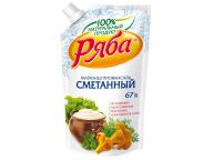 """Майонез """"Классический Сметанный"""" 67% 372гр пакет ТМ Ряба 1/24"""