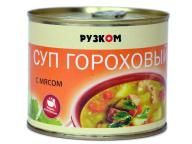 Суп гороховый с мясом 540 г 1/24 ж/б ТМ Рузком