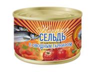 Сельдь атл.в т/с с овощ.гарниром КТК 240 гр 1/24