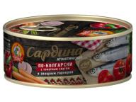 Сардина атл. в т/с с овощ.гарниром По-болгарски КТК 240 гр 1/24