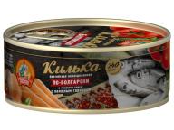 Килька в т/с с овощным гарниром по-болгарски КТК 240 гр 1/24 ключ