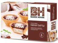 Тарты мини кокосовые Baker House 240г 1/8