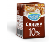 Сливки 10% 200г ТМ Чудское озеро 1/18