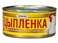 Мясо цыпленка в с/с 325 г 1/24 ТМ Рузком