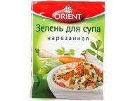 Зелень для супа нарезанная ORIENT, пакет 14 г. 1/20