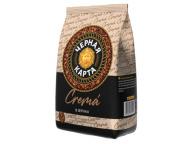 Кофе в зернах Черная Карта Crema,пакет, 1000г.(*6)