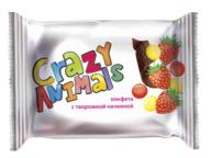 Конфеты Crazy Animals с творож. нач. клубника 1кг 1/10