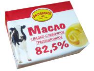 """Масло """"Традиционное"""" 82,5% 180гр ТМ """"Внуковское"""" 1/30 БЗМЖ"""