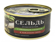 Сельдь атл. в т/с с овощами За Родину 185гр 1/32 ключ