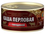 Каша перловая с говядиной ГОСТ КТК 325г 1/24