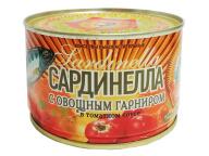 Сардинелла атл. в т/с с овощ.гарниром КТК 250 гр 1/48
