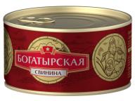 Свинина тушеная Богатырская КТК 325г 1/24