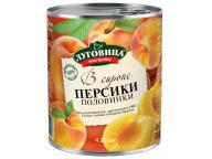 Персики половинки в сиропе Луговица 425 мл жб ключ 1/24
