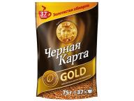 Kофе растворимый Черная Карта Gold, пакет, 75г (*12)