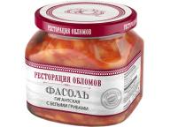 """Фасоль гигантская с белыми грибами """"Ресторация Обломов"""" 1/6 430 гр."""