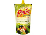 "Майонез ""Классический Оливковый"" 390гр пакет ТМ Ряба 1/24"