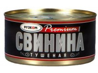 Свинина тушеная в/с Премиум 325г 1/24 ТМ Рузком