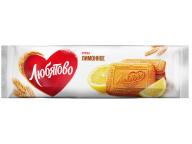 """Печенье сахарное """"Лимонное"""" 280г 1/9 ТМ""""Любятово"""""""