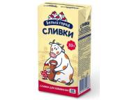 """Сливки стерилизованные """"Белый город"""" 33% 0,5 кг 1/24"""