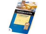 """Сливочный сыр 50% ж, 125г, фасованный, (нарезка), ТМ """"Сыробогатов"""" 1/12шт"""
