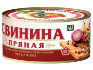 Свинина пряная ГОСТ КТК 300г 1/36 ключ