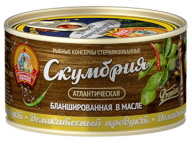 Скумбрия атл. бланшир. в масле КТК 185 гр 1/24