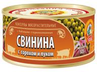 Свинина с горохом и луком ГОСТ КТК 325г 1/36