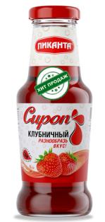 """Сироп """"Пиканта"""" клубничный 1/6 300 гр."""