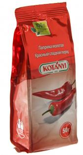 Паприка молотая красный сладкий перец стабило KOTANY, 50г 1/20