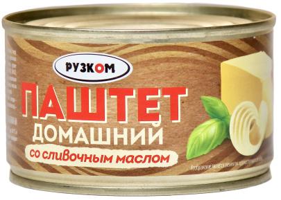 "Паштет ""Домашний"" со сливочным маслом 230 г 1/24 ТУ ТМ Рузком"