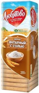 Крекер Янтарный с солью 235 гр. 1/24