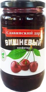 """Конфитюр """"Вишневый"""" 430 мл ТМ Славянский дар 1/8"""