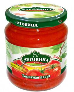 Томатная паста ТМ Луговица 500 мл с/б твист, 1/8