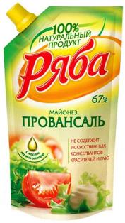"""Майонез """"Провансаль"""" 744гр пакет ТМ Ряба 1/16"""