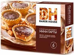 Тарты карамельно-арахисовые мини Baker House 240г 1/8