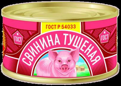 Свинина тушеная В/С ГОСТ КТК 325г 1/24 старый дизайн