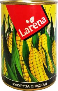 Кукуруза консервированная LARENA 400мл 1/10 ключ