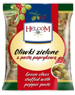 Оливки с паприкой б/к HELCOM пакет 195гр 1/20