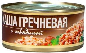 Каша гречневая с говядиной 325г 1/24 ТМ Рузком