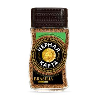 Кофе растворимый Черная Карта Exclusive Brasilia, ст.б., 95г (*12)