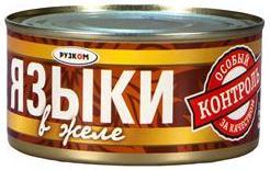Языки в желе 325 г 1/24 ТМ Рузком