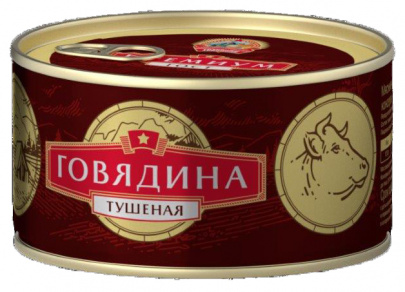 Говядина тушеная В/С ГОСТ КТК 325г 1/24