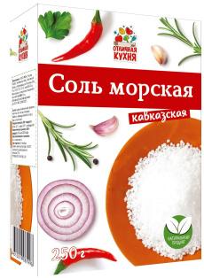 Соль морская кавказская 250г 1/25