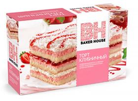 Торт клубничный Baker House 350 гр. 1/8