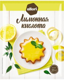 Лимонная кислота ГОСТ АЛЛОРИ 25 гр 1/40