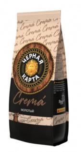 Кофе молотый Черная Карта Crema, пакет, 200г (*12)