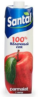 """Сок Santal """"Яблочный"""" 1 л (тетрапризма) 1/12"""